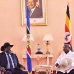 Kiir visits Museveni for SPLM unification