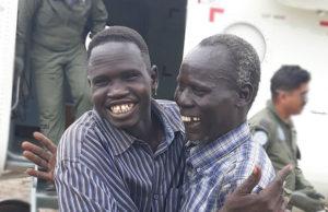 families reunite in South Sudan