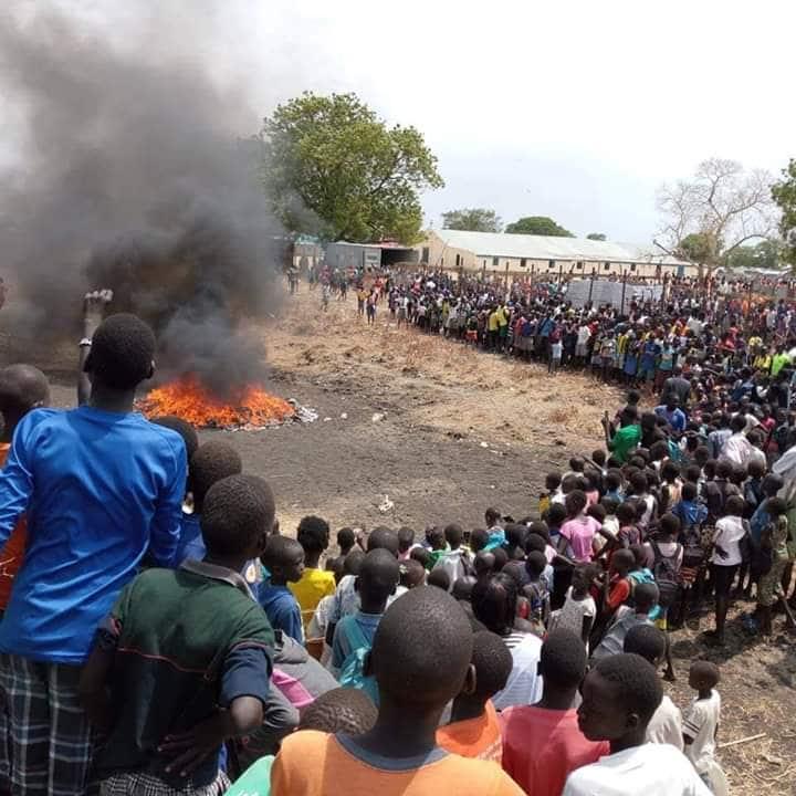 Church members burn satanic sport jerseys, cultural artefacts in Bor