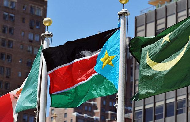 South Sudan flag at UN