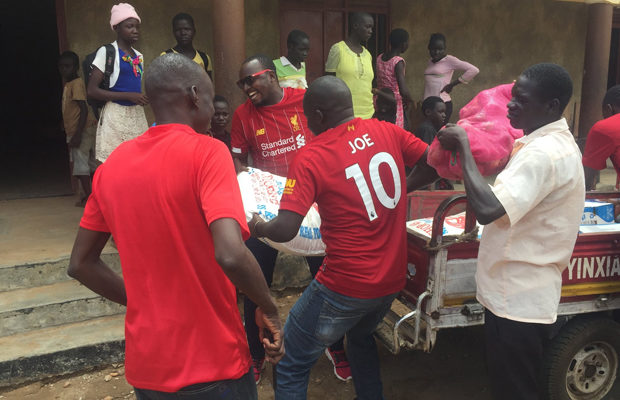 Liverpool-fans-in-Juba-donate-to-orphanage