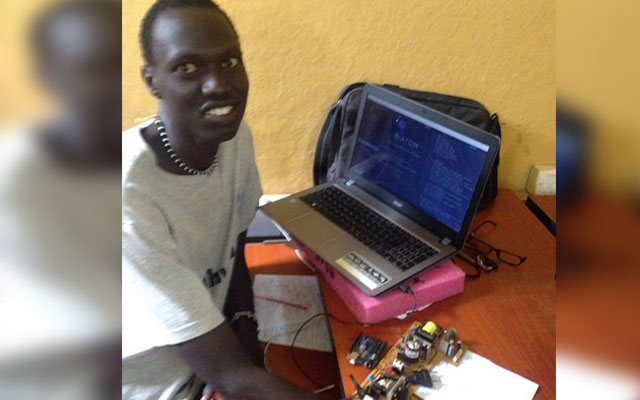 South Sudanese young man invents Malaria-testing device