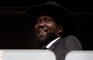 Salva Kiir smiles