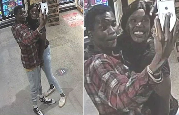 South Sudanese couple take selfie before robbing bottle of whiskey in Melbourne