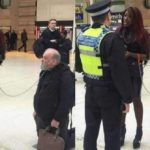 UK Police arrest an African Lady for using a white man as a pet