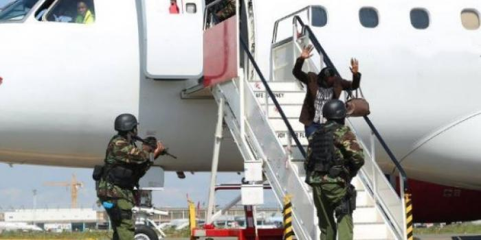 South Sudanese murder suspect forcefully removed from a plane in Kenya