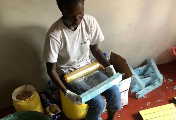 Meet Adhieu Achuil, a South Sudanese student in Kenya making soap, masks for refugees in Kakuma Camp
