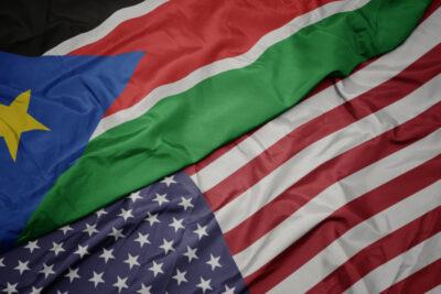 South Sudan - US flag