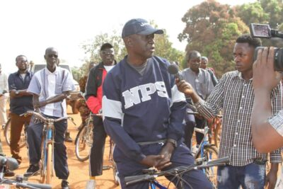 Africano Mande participating in Bicycle riding activities in Maridi, 2018