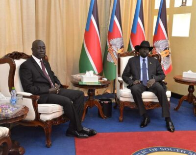 Africano with president Kiir