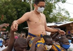SHOCK: Chinese man has just been made chief in Ghana