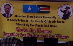 Somali Community in South Sudan donates food, bedding to Jonglei flood victims