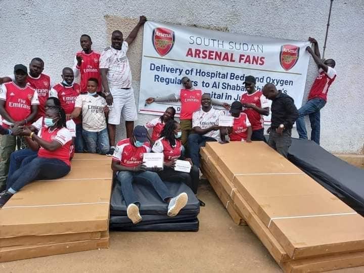 Juba: Arsenal Fans' Group donates beds, oxygen regulators to Al-Sabah Children hospital