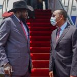 Kiir arrives Addis Ababa for one day working visit